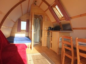 Crowtree Wigwams inside the cabin