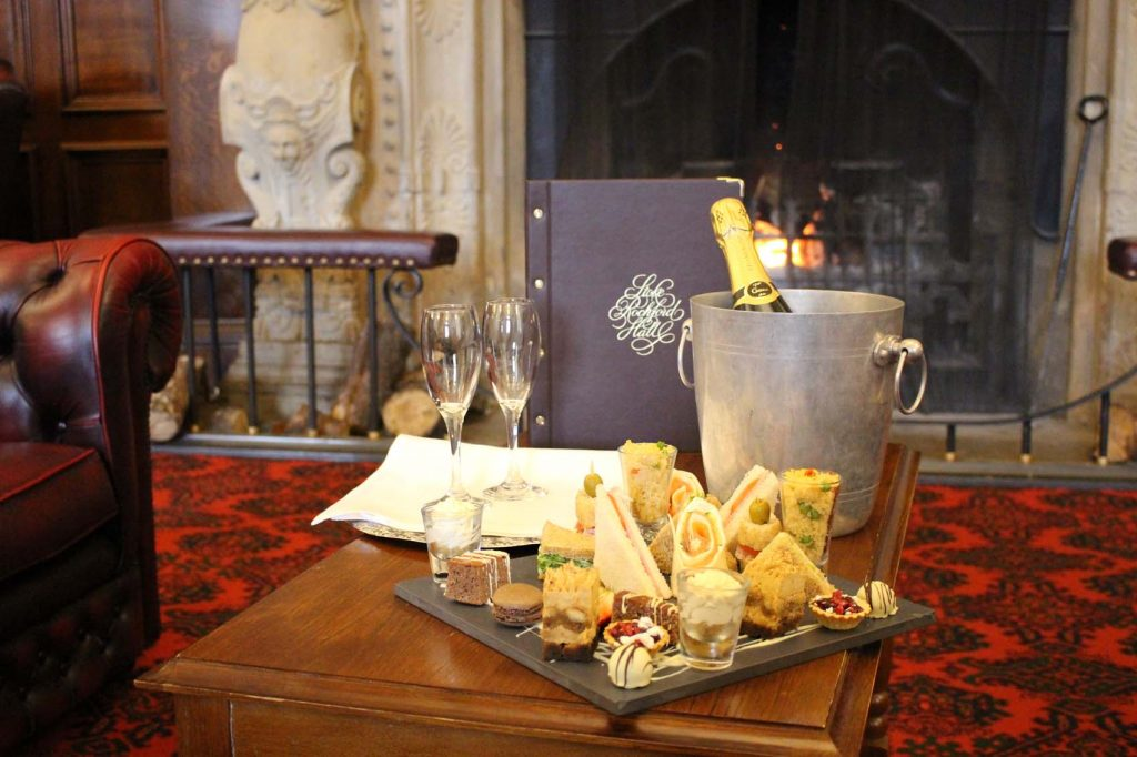 Stoke Rochford afternoon tea by the fire
