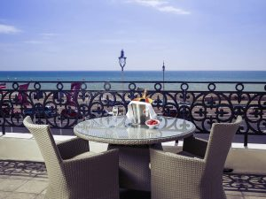 The view of Brighton beach from Mercure Brighton Seafront Hotel