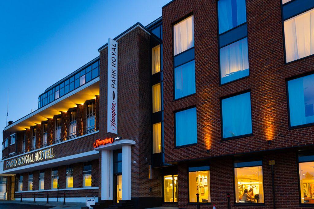 exterior shot of hotel
